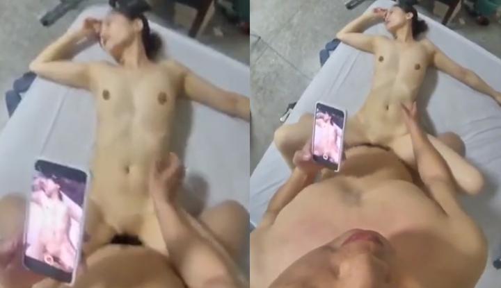 炮友被操得太爽閉上眼享受~趁機拿起手機偷拍!