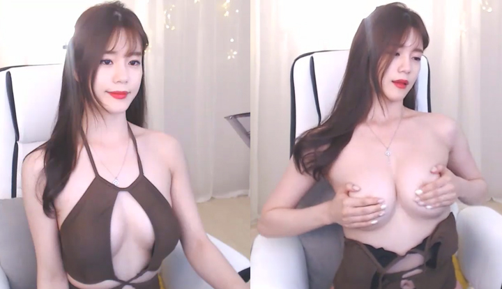 [韓國] 性感圓美乳直播~漂亮氣質長髮有種想戀愛的感覺