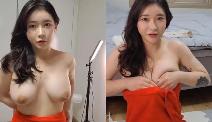 [韓國] 巨乳的困擾有人懂嗎?每次穿衣服都要硬塞進去!