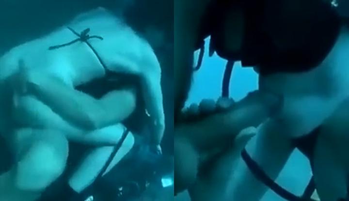 [越南] 網紅武氏英書潛水打炮影片流出~與男友上演水底情深戲碼!