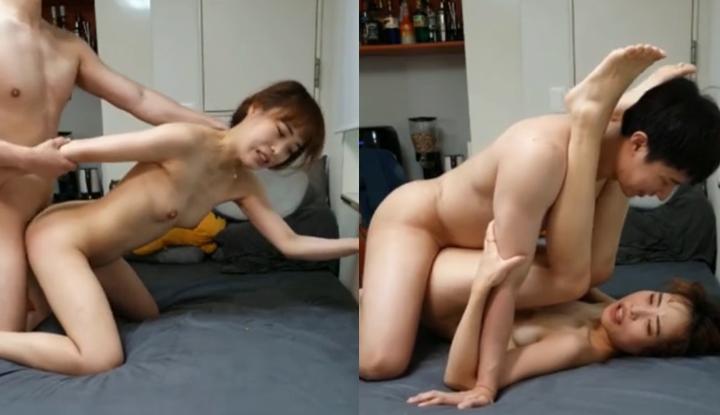 [韓國] 小伙太猛烈了把小姊姊操壞~抬腿開幹直接插到深處