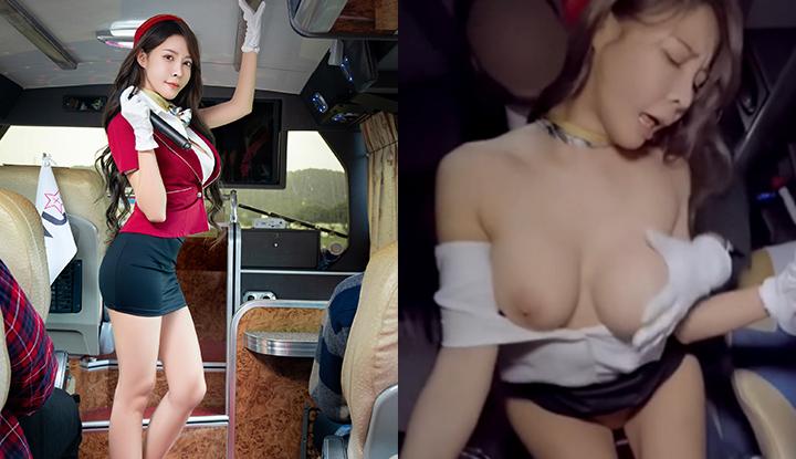 [台灣] 慾望觀光巴士 (下)~淫娃車掌被司機發現與客人的淫行,被威脅留下紀錄!