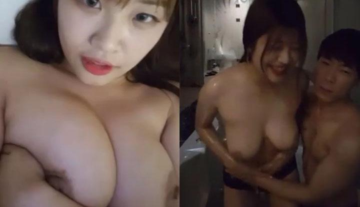 [韓國] 情侶一起開直播雙人秀~男友大方分享女友的絕妙好身材
