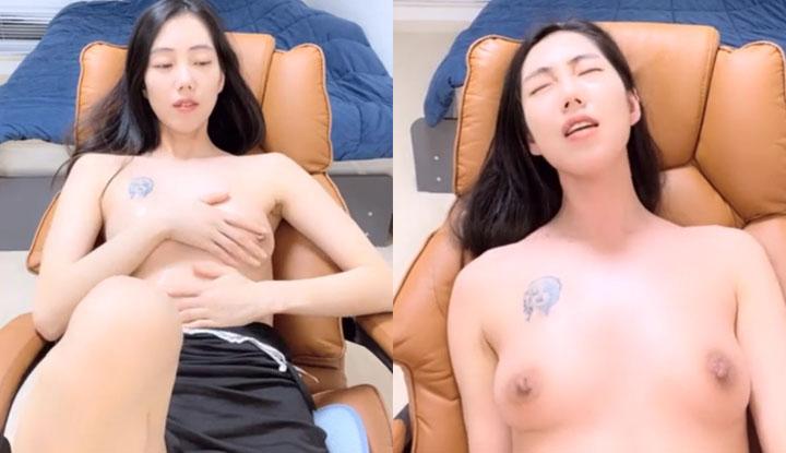[韓國] 新買的沙發椅很適合在上面做愛~約不到哥哥來只好先自己爽