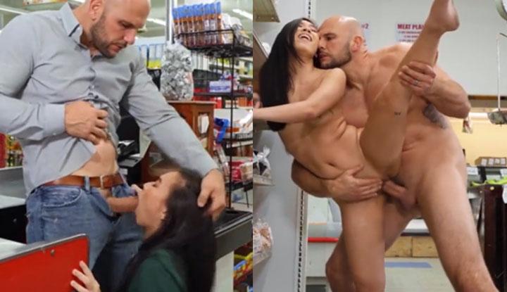 [歐美] 新來的櫃台妹妹好像有點可愛~趁超市人比較少的時候搞了一炮