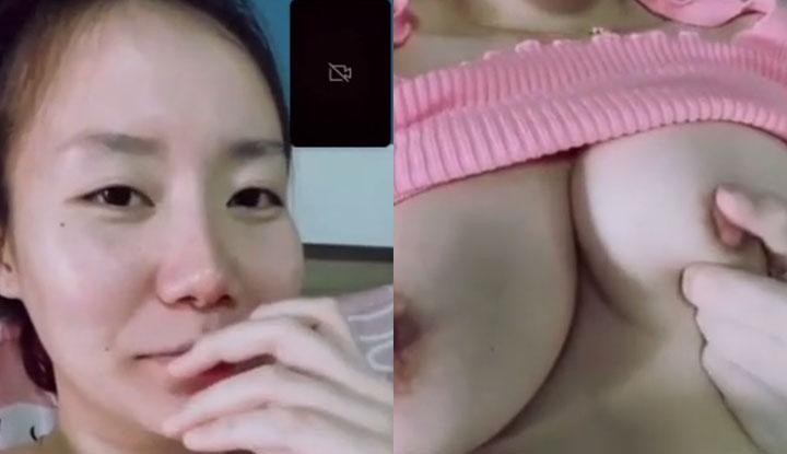 [泰國] 巨乳清純妹子與男友視訊畫面流出